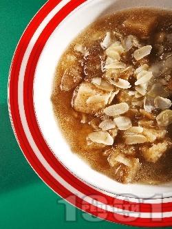 Бирена крем супа с червена леща - снимка на рецептата